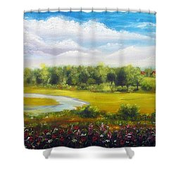 Summer Day Shower Curtain by Vesna Martinjak