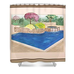 Shower Curtain featuring the painting Summer Days by Ron Davidson