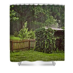 Summer Downpour Shower Curtain