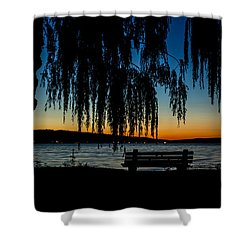 Summer Evening At Stewart Park Shower Curtain