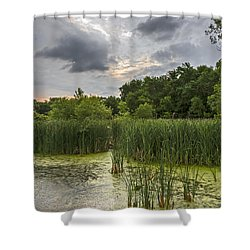 Summer Evening Clouds Shower Curtain