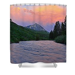 Summer Evening Reflections Shower Curtain