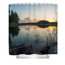 Summer Evening To Remember Shower Curtain
