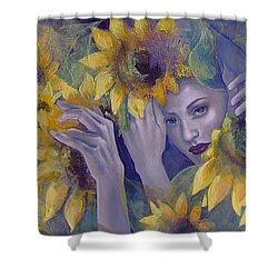 Summer Fantasy Shower Curtain by Dorina  Costras