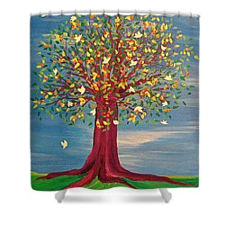 Summer Fantasy Tree Shower Curtain by First Star Art