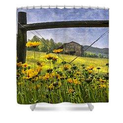 Summer Fields Shower Curtain by Debra and Dave Vanderlaan