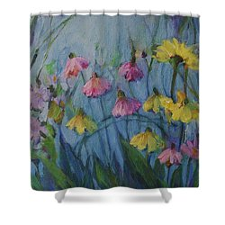 Summer Flower Garden Shower Curtain