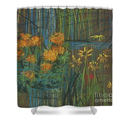 Shower Curtain featuring the painting Summer Flowers by Donald Maier