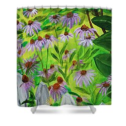 Summer Flowers In Peculiar Mo. Shower Curtain by Patricia Olson