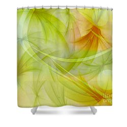Summer Garden Abstract Shower Curtain