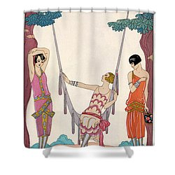 Summer Shower Curtain by Georges Barbier