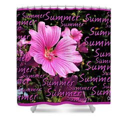 Summer Greetings Shower Curtain