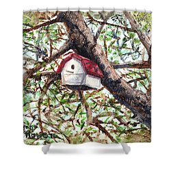 Shower Curtain featuring the painting Summer Home by Shana Rowe Jackson