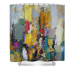 Summer In Japan Town Shower Curtain