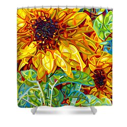 Summer In The Garden Shower Curtain by Mandy Budan