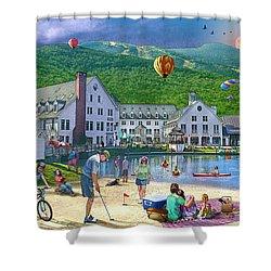 Summer In Waterville Valley Shower Curtain