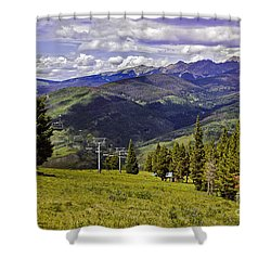 Summer Lifts - Vail Shower Curtain