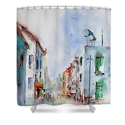 Shower Curtain featuring the painting Summer Morning by Faruk Koksal