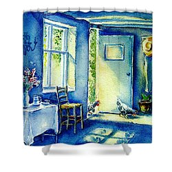Summer Morning Visitors  Shower Curtain
