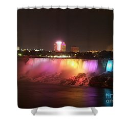 Summer Night In Niagara Falls Shower Curtain
