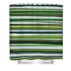 Summer Of Green Shower Curtain by Lourry Legarde