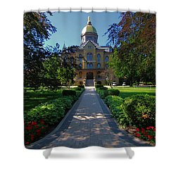Summer On Notre Dame Campus Shower Curtain