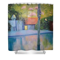 Summer On The Deck Shower Curtain by Marlene Book