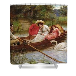 Summer Pleasures On The River Shower Curtain by George Sheridan Knowles
