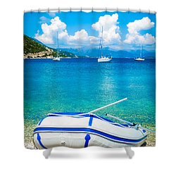 Summer Sailing In The Med Shower Curtain