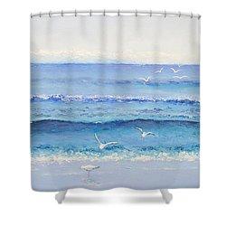 Summer Seascape Shower Curtain