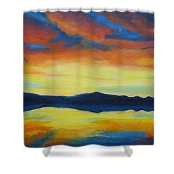 Summer Storms Shower Curtain by Alicia Fowler
