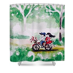 Summer Story 2 Shower Curtain