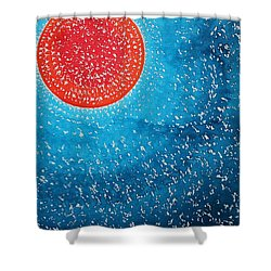 Summer Sun Original Painting Shower Curtain