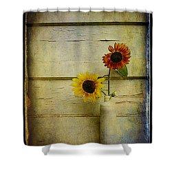 Summer Sunflowers Shower Curtain by Sari Sauls
