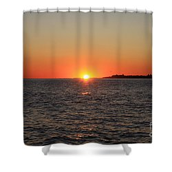Shower Curtain featuring the photograph Summer Sunset by John Telfer
