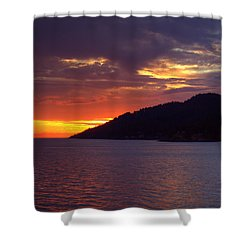 Summer Sunset Shower Curtain by Randy Hall