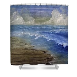 Summer Surf Shower Curtain by Judy Hall-Folde