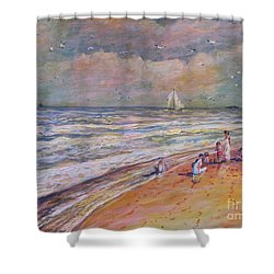 Summer Vacations Shower Curtain