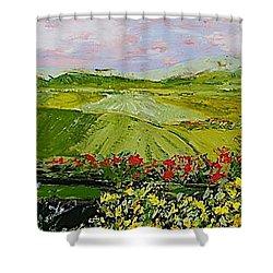 Summer Valley Shower Curtain by Allan P Friedlander