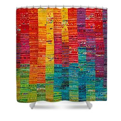 Summer Vibrations Shower Curtain by Susan Rienzo
