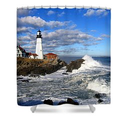 Summer Waves Shower Curtain by Lloyd Alexander