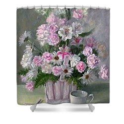 Summer Whites Shower Curtain by Bonnie Mason