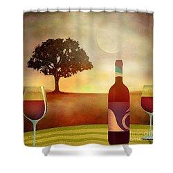 Summer Wine Shower Curtain by Bedros Awak