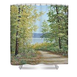 Summer Woods Shower Curtain