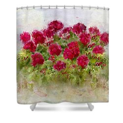 Summer's Blush Shower Curtain by Colleen Taylor