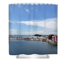 Summers End Capitola Beach Shower Curtain by Amelia Racca