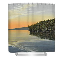 Shower Curtain featuring the painting Summers End by Kenneth M  Kirsch