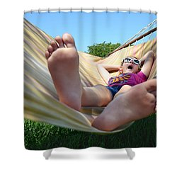 Summertime And The Livin' Is Easy Shower Curtain by Laura Fasulo