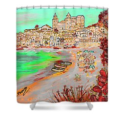 Summertime In Cefalu' Shower Curtain