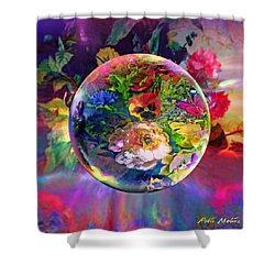 Shower Curtain featuring the painting Summertime Passing by Robin Moline